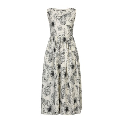 CO 7分丈ワンピース・ドレス アイボリー S コットン 100% 7分丈ワンピース・ドレス