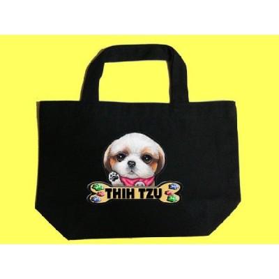 犬 トートバッグ シーズー 39 カラフル キャンバス お散歩バッグ/可愛い バック オーダーメイド オリジナル グッズ