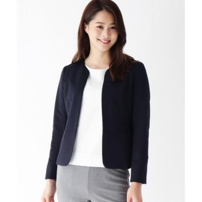 【ソフール】 YUMEMI ノーカラーショートジャケット レディース ネイビー 40(L) Sofuol