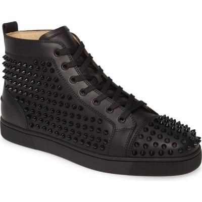 クリスチャン ルブタン CHRISTIAN LOUBOUTIN メンズ スニーカー ハイカット シューズ・靴 Louis Allover Spikes High Top Sneaker Black/Black