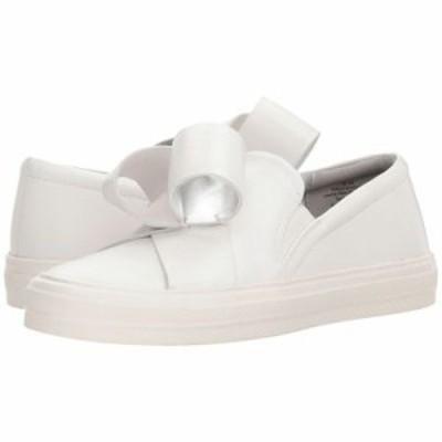 ナインウェスト スニーカー Odienella White/White/Silver Bella Nappa/Elastic/Laminato Soft PU