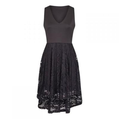 メーラ Mela レディース ワンピース ワンピース・ドレス Lace Asymmetric Dress Black