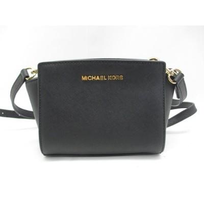 MICHAEL KORS マイケルコース 32H3GLMC1L ブラック ミニショルダーバッグ 鞄 中古 レディース ∴WB332