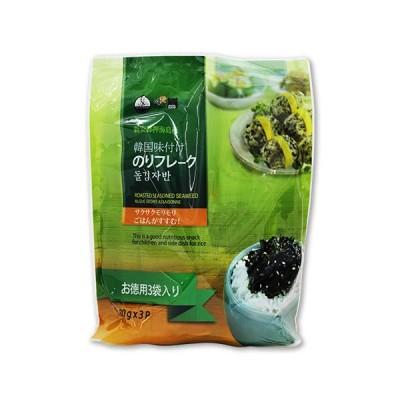 韓国味付けのりフレーク 3袋(1袋80g) コストコ Costoco ご飯のお供 トッピング 海苔 韓国のり サクサク ごま
