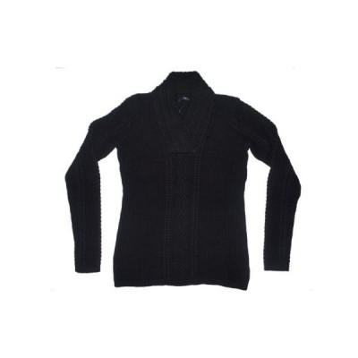 ノーティカ セーター Nautica レディース Cable ニット Vネック 長袖 セーター M ブラック _no_color_