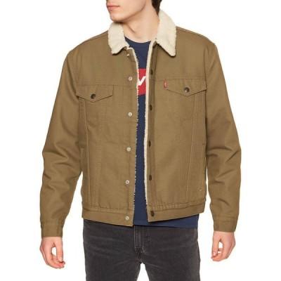 リーバイス Levi's メンズ ジャケット アウター type 3 sherpa trucker jacket Cougar Canvas Sherpa Trucker