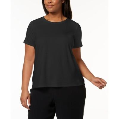 エイリーンフィッシャー レディース シャツ トップス Plus Size Stretch Jersey T-Shirt
