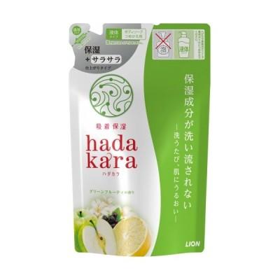 ハダカラ(hadakara) ボディソープ 保湿+サラサラ仕上がりタイプ グリーンシトラスの香り つめかえ用 34