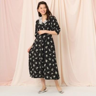 クチュールブローチ(Couture Brooch)/【WEB限定サイズ(LL)あり】【2WAY】アンティークフラワーワンピース