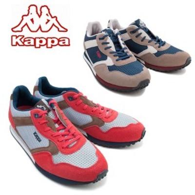 Kappa カッパ KP CS006 ネイビー/チャコール グレイ/レッド ランニングシューズ レトロ メンズ カップインソール 発砲インソール スペア