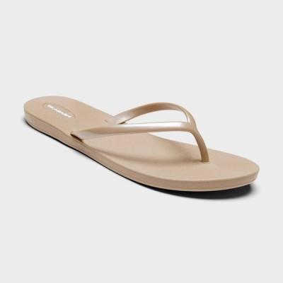 オカバシ Okabashi レディース ビーチサンダル シューズ・靴 Shoreline Sustainable Flip Flops - Tan