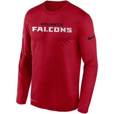 ナイキ メンズ Tシャツ トップス Nike Men's Atlanta Falcons Sideline Long Sleeve T-Shirt
