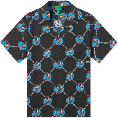 ラコステ Lacoste メンズ 半袖シャツ トップス L!ve x Chinatown Market Short Sleeve Shirt Black