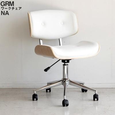 ワークチェア グラム GRM グラム ホワイト WH ルームチェア オフィスチェア デスクチェア モダン 昇降式 東馬 送料無料