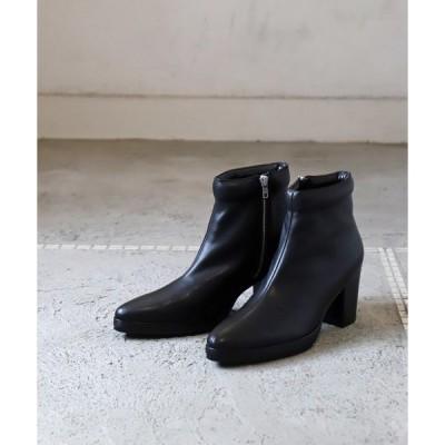 ブーツ LEATHER HEEL BOOTS / レザーヒールブーツ