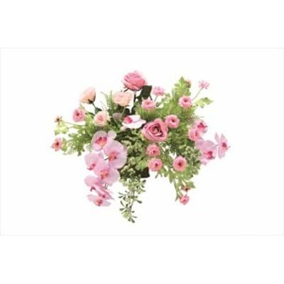 光触媒 光の楽園  壁掛けカサブランカ 751A100 人工植物 造花 フェイクフラワー おしゃれ インテリア 壁掛けタイプ 屋内対応型 約 幅60×