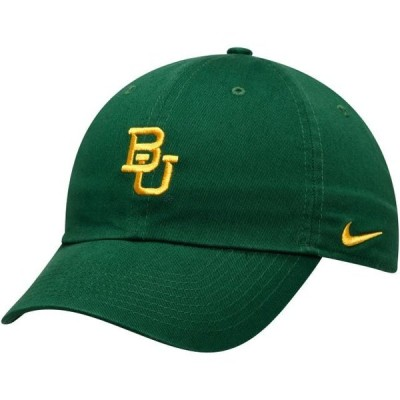 ユニセックス スポーツリーグ アメリカ大学スポーツ Baylor Bears Nike Heritage 86 Team Logo Performance Adjustable Hat - Green -