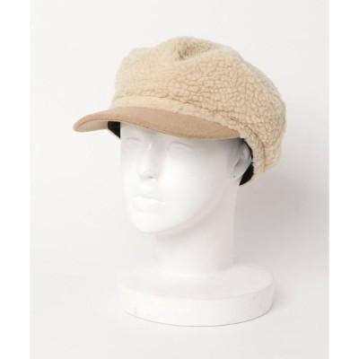 帽子 キャスケット ボアキャスケット