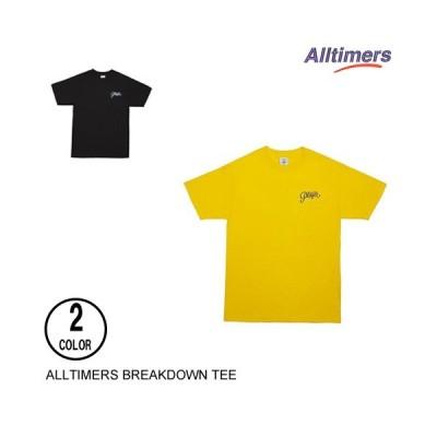 ALLTIMERS オールタイマーズ BREAK DOWN YELLOW M 半袖Tシャツ
