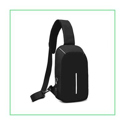 Chest Sling Shoulder Backpacks Bag Multipurpose Crossbody Shoulder Bag Multipurpose Travel Hiking Daypack (Black)【並行輸入品】