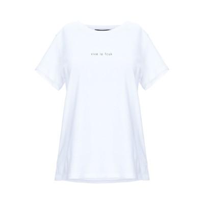 フレンチコネクション FRENCH CONNECTION T シャツ ホワイト XS コットン T シャツ
