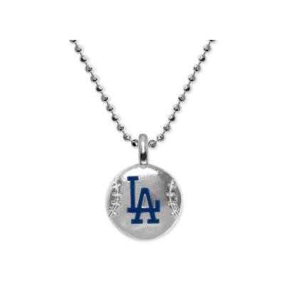 """アレックス ウー Alex Woo メンズ ネックレス ジュエリー・アクセサリー Los Angeles Dodgers 16"""" Pendant Necklace in Sterling Silver Sterling Silver"""