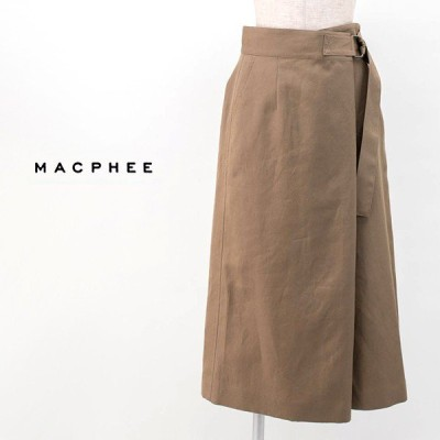 (SALE 30%OFF)TOMORROWLAND MACPHEE マカフィー レディース オーバーラップスカート(12-05-02-05232HN)(2020SS)(返品交換不可)