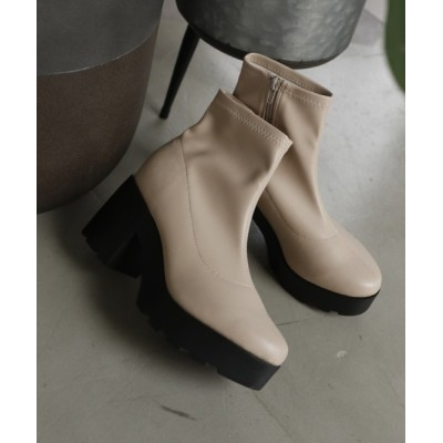 VIVIAN COLLECTION / 厚底ストレッチショートブーツ WOMEN シューズ > ブーツ