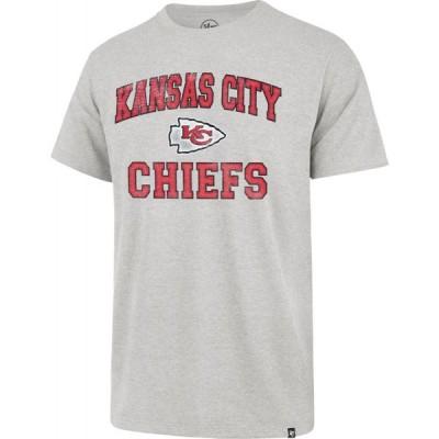 フォーティセブン 47 メンズ Tシャツ トップス Kansas City Chiefs Arch Franklin Grey T-Shirt