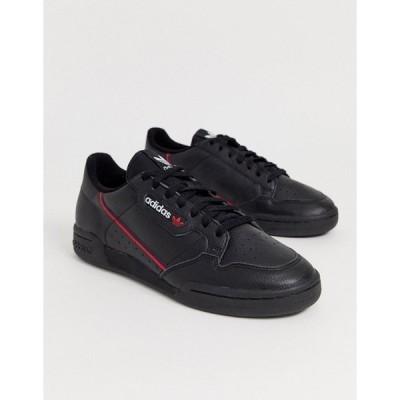アディダスオリジナルス メンズ スニーカー シューズ adidas Originals continental 80's trainers in black Black
