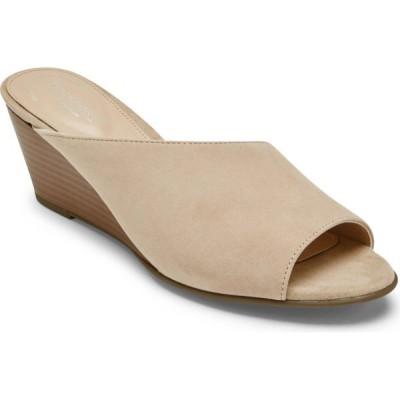 ロックポート ROCKPORT レディース サンダル・ミュール ウェッジソール スライドサンダル シューズ・靴 Taylor Asymmetric Wedge Slide Sandal Nougat Suede
