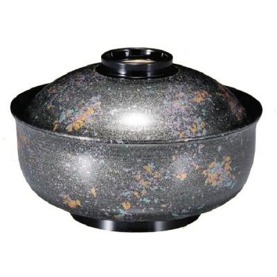 耐熱ABS樹脂 5寸ゆり型煮物椀 銀光彩・高台内金ライン 親・蓋 商品番号:2-287-1