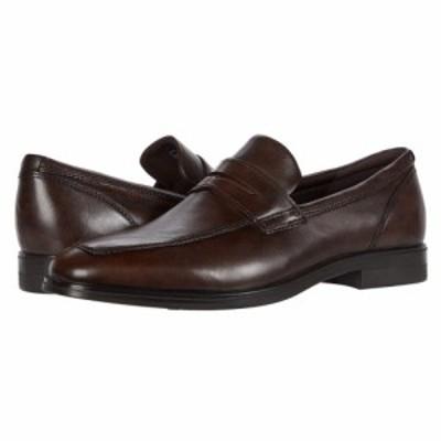 エコー ECCO メンズ ローファー シューズ・靴 Queenstown Penny Loafer Cocoa Brown Cow Leather