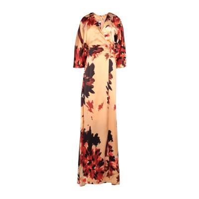KITAGI® ロングワンピース&ドレス オレンジ 42 シルク 100% ロングワンピース&ドレス