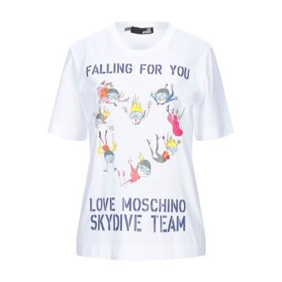 ラブ モスキーノ LOVE MOSCHINO T シャツ ホワイト 38 コットン 100% T シャツ
