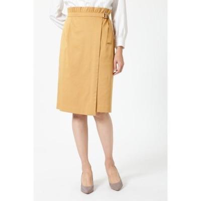 スカート アシメトリータックラップスカート