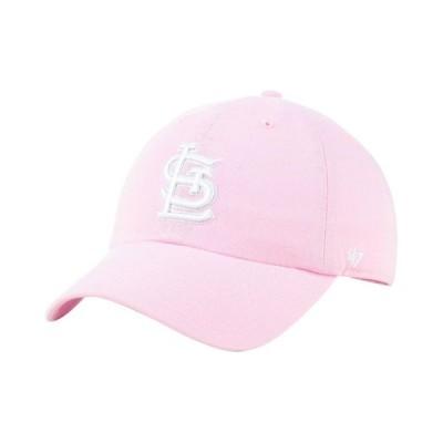 47ブランド レディース 帽子 アクセサリー St. Louis Cardinals Pink CLEAN UP Cap