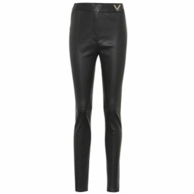 ヴァレンティノ Valentino レディース スキニー・スリム レザーパンツ ボトムス・パンツ Leather high-rise skinny pants