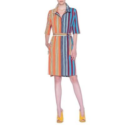 アクリス プント レディース ワンピース トップス Parasol Stripe Shirtdress PARASOL STRIPE MULTICOLOR