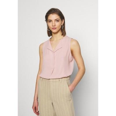 ヴィラ カットソー レディース トップス VILUCY TOP  - Button-down blouse - pale mauve