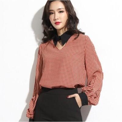 シャツ ブラウス 無地  レディース 韓国ファッション フォーマル おしゃれ シンプル 大人可愛い 体型カバー 20代 30代 40代