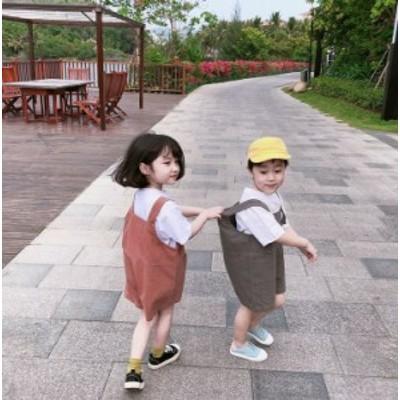 オーバーオール サロペット 子供服 こども服 半ズボン ベビー サロペットパンツ 男の子 女の子 男児 女児 子供 カジュアル