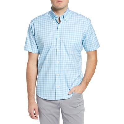 ピーター・ミラー メンズ シャツ トップス Garrett Regular Fit Check Short Sleeve Button-Down Shirt RIVERBED