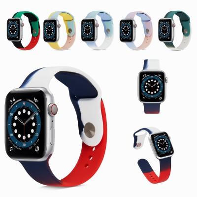 アップルウォッチ バンド スポーツバンド(42mm 44mm)(38mm 40mm)Apple watch series SE 6 5 4 3バンド おしゃれ ニュアンスカラー