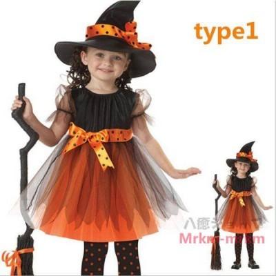 ハロウィン 衣装 仮装 子供用 女の子 ドレス ウィッチ 巫女 魔女 キッズ ハロウィーン コスチューム