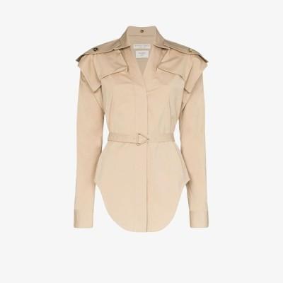 ボッテガ ヴェネタ Bottega Veneta レディース ブラウス・シャツ トップス belted stretch cotton shirt neutrals