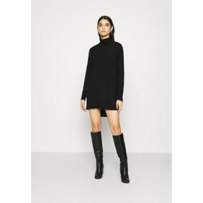 ゲタス レディース ワンピース トップス THELMA ROLLNECK - Jumper dress - black black