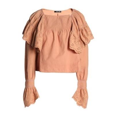 LOVE SAM ブラウス  レディースファッション  トップス  シャツ、ブラウス  長袖 キャメル