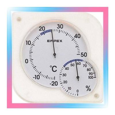 エンペックス 温度計 湿度計 シュクレミディ 置き掛け クリアホ