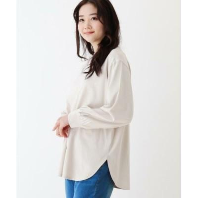 SHOO・LA・RUE/シューラルー SUPIMA ボリューム袖ラウンドヘムTシャツ ライトベージュ(051) 02(M)